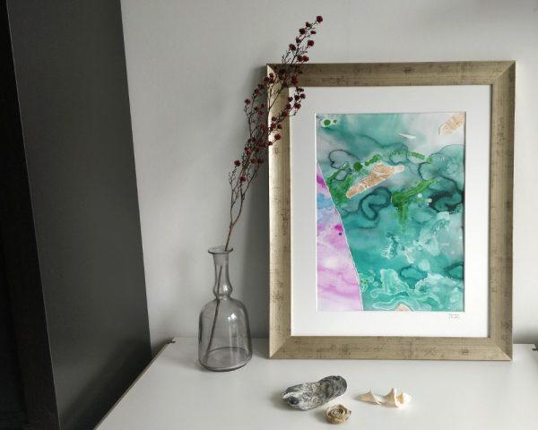 Tavla inredning abstrakt